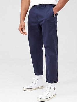 Tommy Jeans Tommy Jeans Branded Turn Up Trousers - Navy Picture