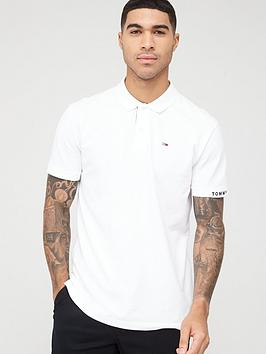 Tommy Jeans Tommy Jeans Branded Rib Polo Shirt - White Picture