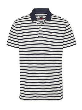 Tommy Jeans Tommy Jeans Classics Stripe Polo Shirt - Navy Stripe Picture