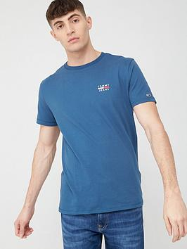 tommy-jeans-chest-logo-short-sleeve-t-shirt-blue