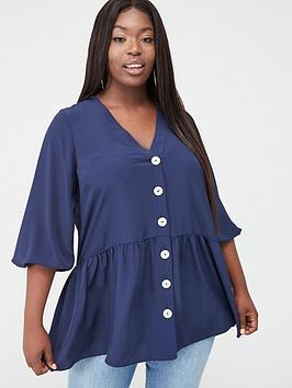 V by Very Curve V By Very Curve Button Through Tunic Picture