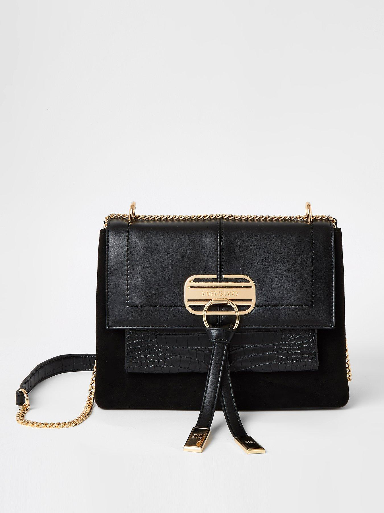 River Island Bag Gold Tone Lock Front  Cross Body Bag Brand New With Tag