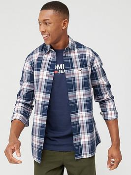 Tommy Jeans Tommy Jeans Essential Check Long Sleeve Shirt - Twilight Navy Picture