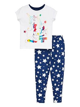 Minnie Mouse Minnie Mouse Girls Unicorn Dream On T-Shirt And Legging Pjs -  ... Picture