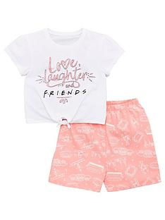 friends-girls-friendsnbsptie-t-shirt-and-short-pjs-multi