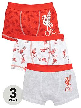 Liverpool FC Liverpool Fc Boys 3 Pack Trunks - Red Picture