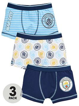 Manchester City Manchester City Boys 3 Pack Trunks - Blue Picture