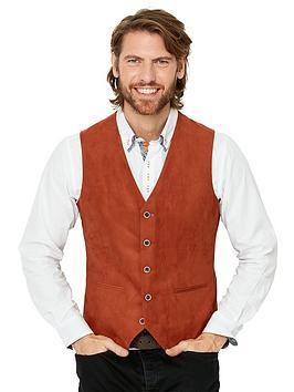 Joe Browns   Deadly Dapper Waistcoat- Rust