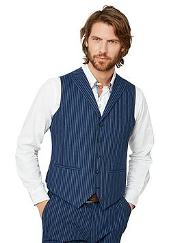 Joe Browns Joe Browns Superb Stripe Waistcoat - Blue Picture