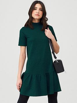 Buy V by Very Textured Smock Dress - Forest Green