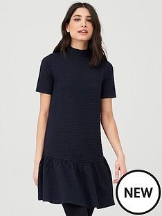 v-by-very-textured-smock-dress-navy