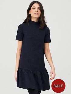 v-by-very-textured-smock-dress-navy