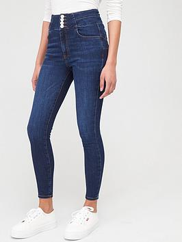 V by Very V By Very The Elevator Shaping Skinny Jeans - Dark Wash Picture