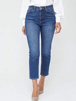 v-by-very-girlfriend-high-waistnbspstraight-leg-jeans-dark-wash