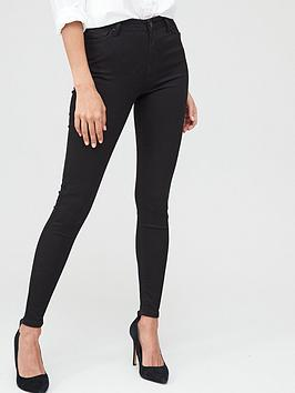 V by Very V By Very Sustainable High Waist Skinny Jean - Black Picture