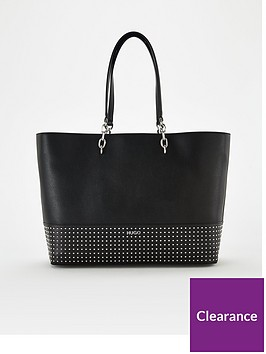 hugo-victoria-studded-shopper-bag-black
