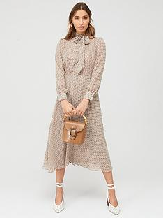 v-by-very-pussybow-printed-midi-dress-geo-print