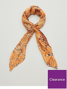 v-by-very-floral-satin-plisse-multi-use-scarf-mustard