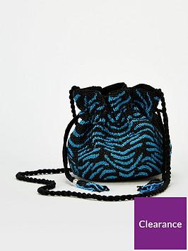 v-by-very-rolo-beaded-drawstring-bag-blue-black