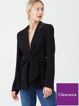 river-island-tie-waisted-blazer-black