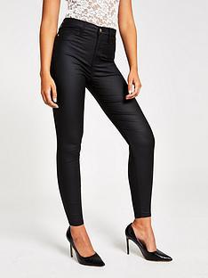 river-island-river-island-coated-hailey-high-rise-super-skinny-jeans--black