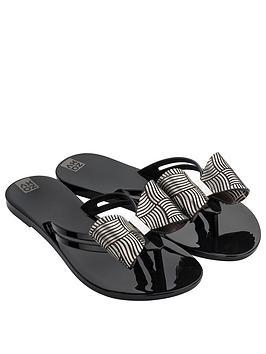 Zaxy Zaxy Sunrise Bow Detail Flip Flop - Black Picture