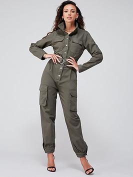Michelle Keegan Michelle Keegan Minimal Utility Boilersuit - Green Picture