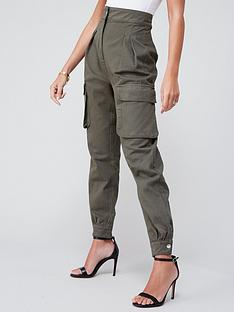 michelle-keegan-minimal-utility-trouser-green
