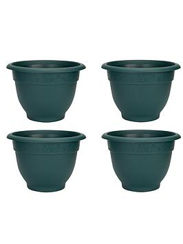 Wham Wham Set Of 4 Green 48Cm Round Bell Planters Picture