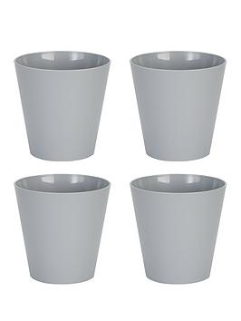 Wham Wham Set Of 4 Grey 21Cm Round Studio Planter Covers Picture