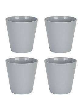 Wham Wham Set Of 4 Grey 16Cm Round Studio Planter Covers Picture