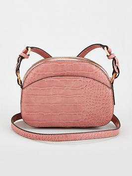 V by Very V By Very Half Moon Crossbody Bag - Dusky Pink Picture