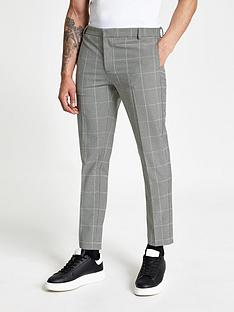 river-island-monochrome-check-super-skinny-trousers