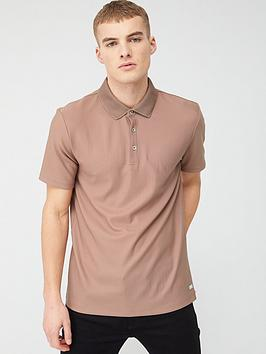 River Island River Island Pique Polo Shirt - Light Pink Picture