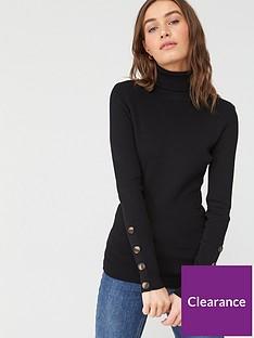 v-by-very-roll-neck-rib-jumper-black