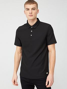 River Island River Island Pique Polo Shirt - Black Picture