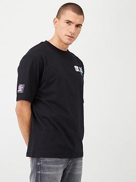 river-island-short-sleevenbspblurred-city-print-t-shirt-blacknbsp