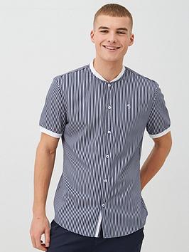 River Island River Island Short Sleeve Baseball Collar Polo Shirt - Grey Picture