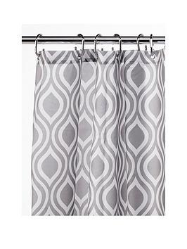 Croydex Croydex Grey Medallion Shower Curtain Picture