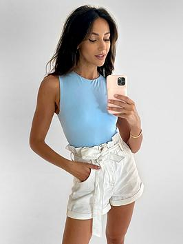 Michelle Keegan Michelle Keegan Paperbag Elasticated Waist Denim Shorts -  ... Picture