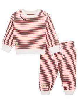V by Very V By Very Baby Stripe Nautical Jog Set - Red/White Picture