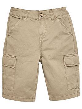 V by Very V By Very Boys Cargo Shorts - Khaki
