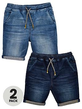 v-by-very-boys-2-pack-pull-on-jogger-shorts-dark-wash-light-wash