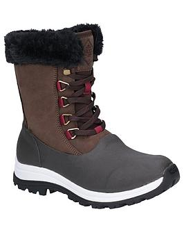 Muck Boots Muck Boots AprÈS Lace Mid Arctic Grip Welly Boots - Brown Picture