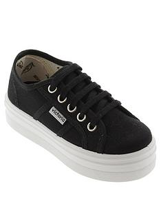 victoria-lace-up-platform-cotton-canvas-plimsoll-black
