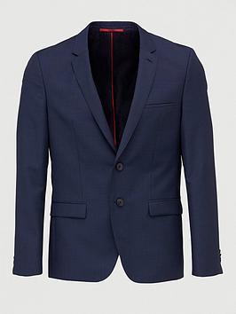 HUGO Hugo Arti Pin Dot Extra Slim Stretch Suit Jacket - Blue Picture