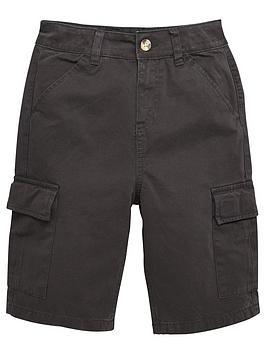 V by Very V By Very Boys Cargo Shorts - Black Picture