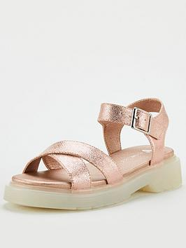 V by Very V By Very Girls Chunky Sandals - Rose Gold Picture