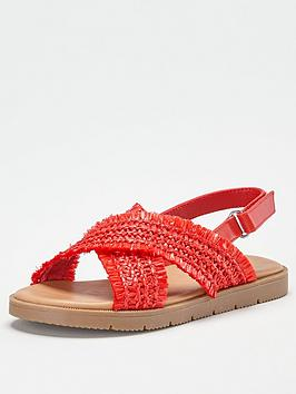 V by Very V By Very Girls Cross Strap Sandal - Red Picture