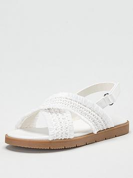 V by Very V By Very Girls Cross Strap Sandal - White Picture